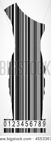 Barcode dress image vector illustration