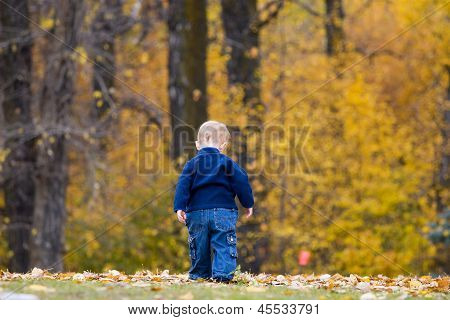 Boy Walking Away