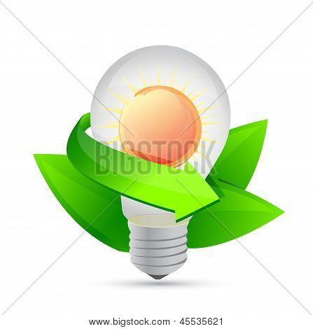 Electric Light Bulb Symbolizing Solar Energy