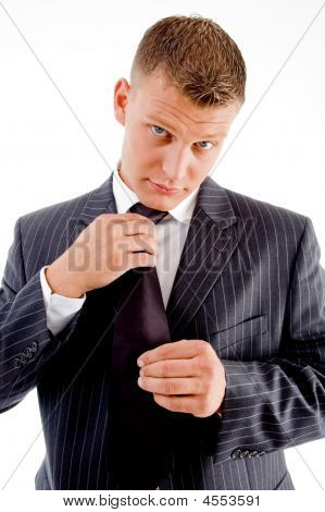 Businessman Wearing Tie