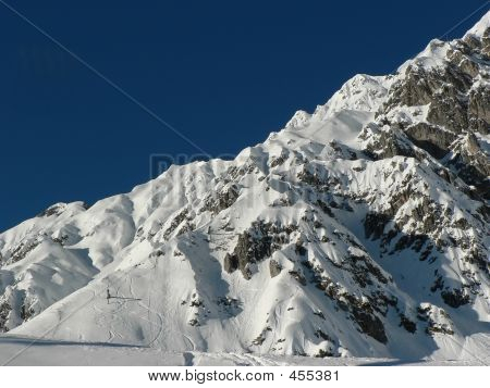 Skitracks At New Snow