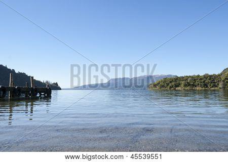 Lake edge.