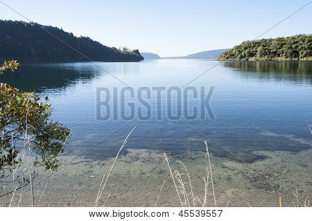 Lake scene.