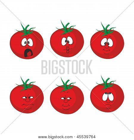 Emotion cartoon red tomato