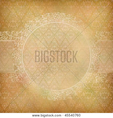 Lace Banner Card Abstract Vintage Background