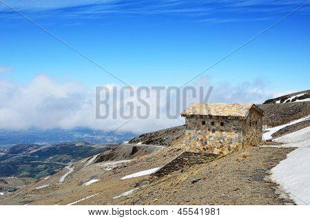 Spring Slope Of A Mountain Veleta In The Andalusian Sierra Nevada