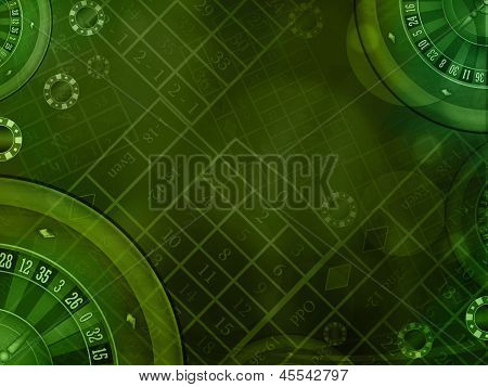Casino Green Background