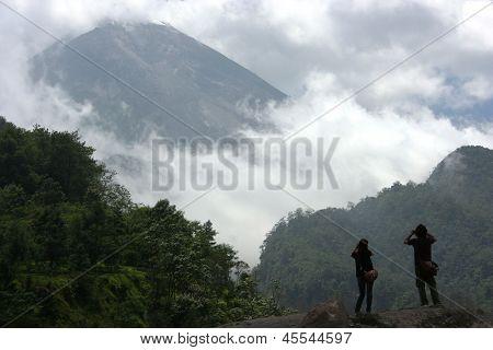 slopes of Mount Merapi