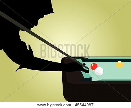 Snooker Player Silhouettes Vector.eps