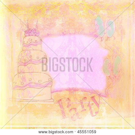 Happy Birthday Retro Vintage Card
