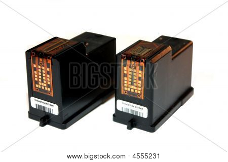 Replaceable Printer Ink Cartridges For A Printer.