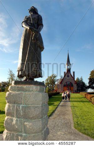 Statue Of Longfellow's Evangeline