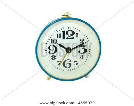 Anciend Alarm Clock Isolated On White Background