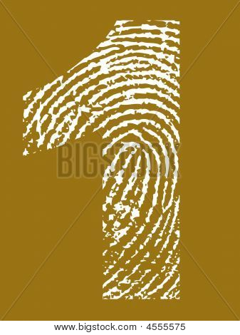 Fingerprint Alphabet No 1