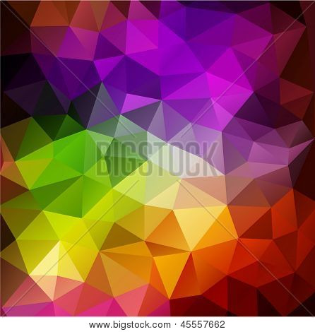 Colorful abstract geometric background with triangular polygons.