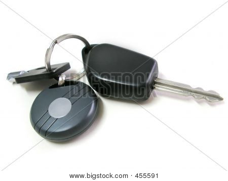 Keys Car Isolated
