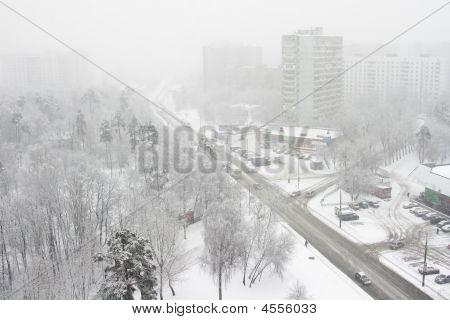 City,snowfall, One