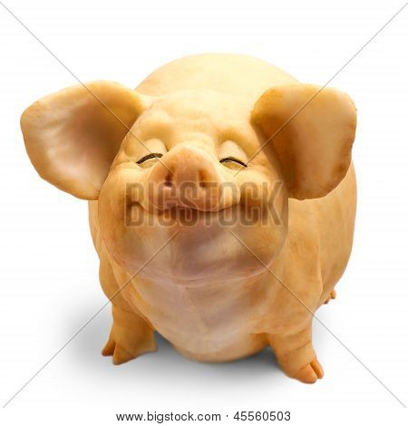 pig dirty isolated figure on a white background