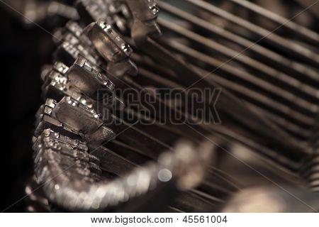 Tipos de máquina de escribir de macro