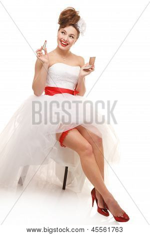 Happy Pin-up Bride