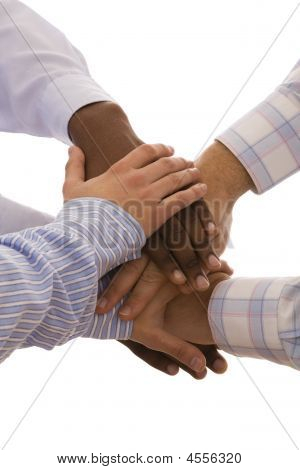 Mãos multirraciais