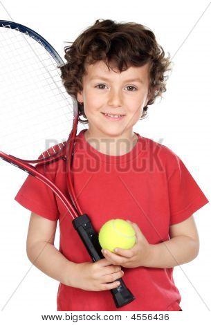 Boy With Racket