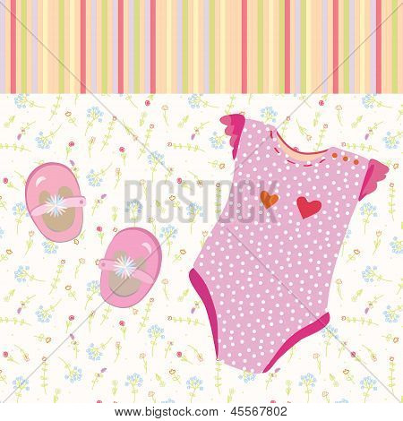 Baby girl background with shoes