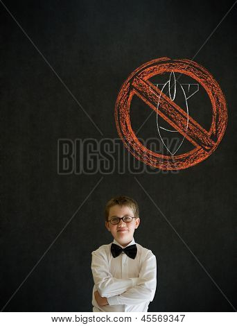 Thinking Boy Business Man With  No Bombs War Pacifist Sign