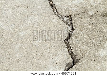 Large Cement Patio Crack Getting Bigger