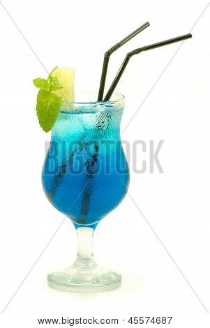 colourful cocktail isolated