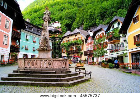 Quaint Austrian square