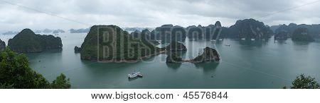 Panorama Of Halong Bay