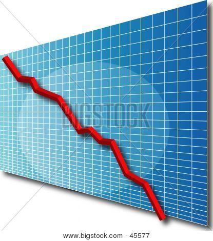 Chart Line 3d Down