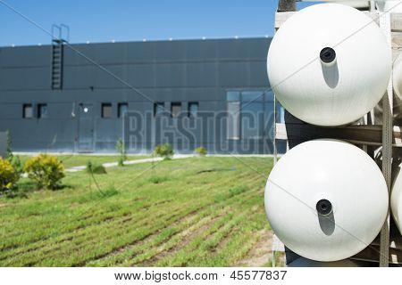 White Industrial Butan Bottles