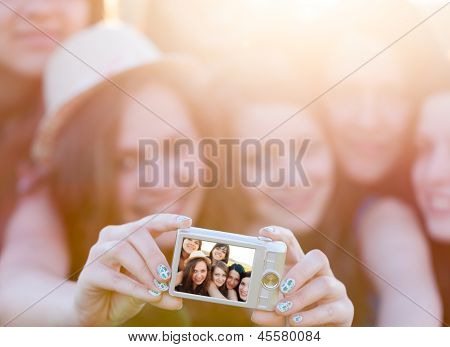 People Taking Group Photo