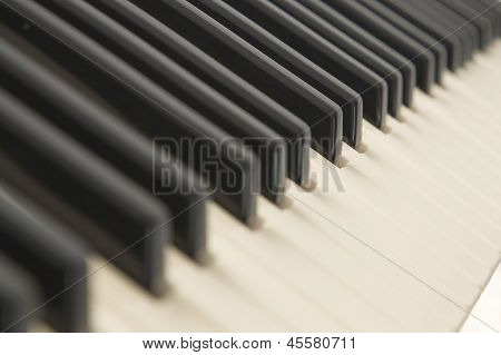 Background Of A Piano Keyboard