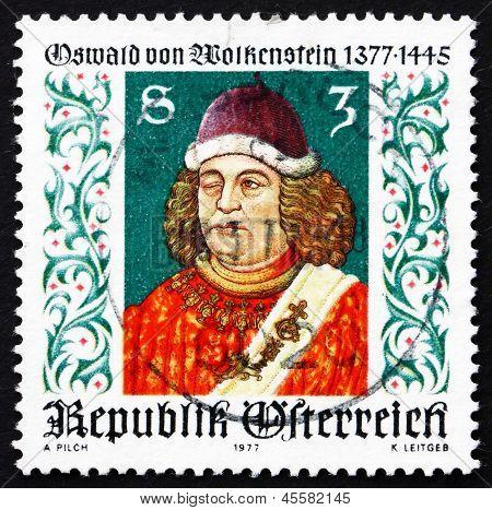 Postage Stamp Austria 1977 Oswald Von Wolkenstein, Poet