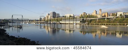Thea Foss Waterway Commencement Bay Murray Morgan Bridge Tacoma Washington