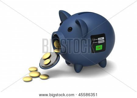 Security system of piggy bank