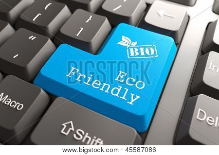 Keyboard with Eco Friendly Button.