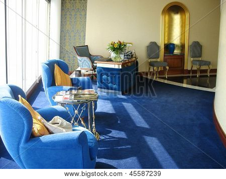 Inside of the suite in Burj Al Arab hotel  in Dubai