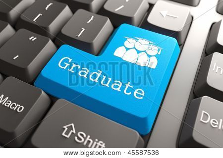 "Keyboard with ""Graduate"" Button."