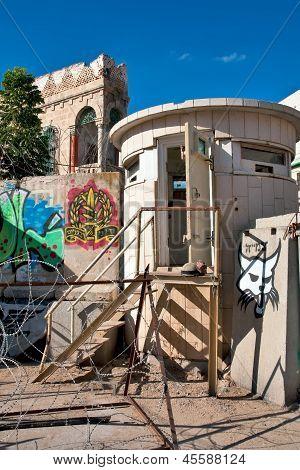 Concrete Bunker, The Idf In Hebron.
