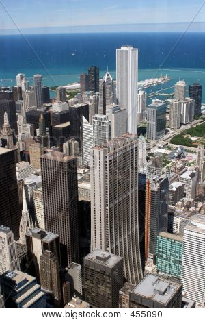 Chicago Downtown , Aerial View