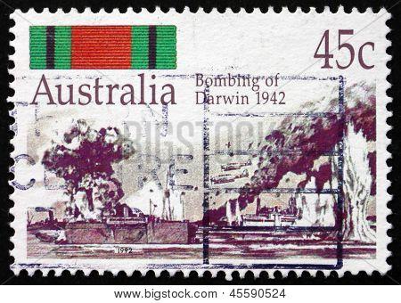 Postage Stamp Australia 1992 Bombing Of Darwin, 1942