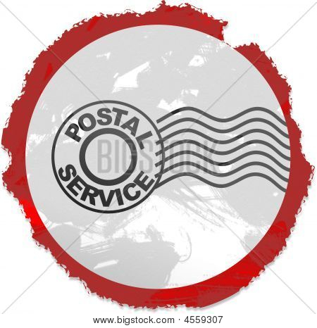 Grunge Postmark Sign