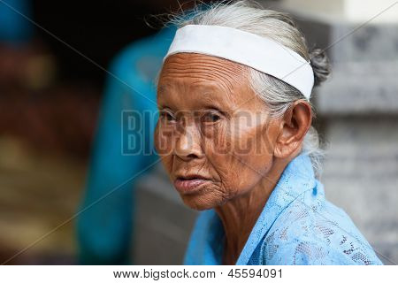 Balinese Old Women Portrait