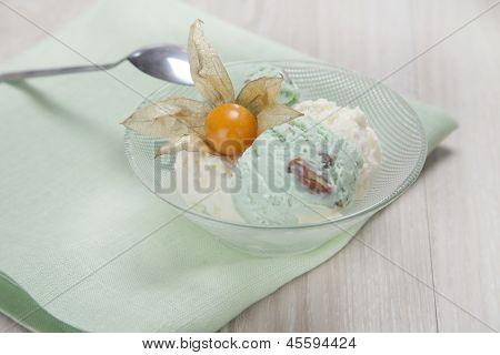 vanilla ice cream with...