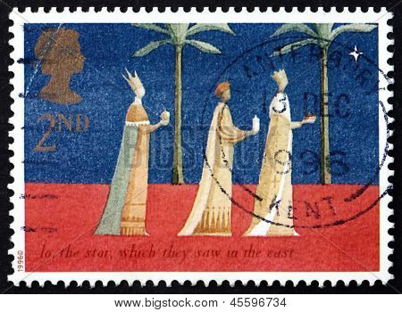 Postage Stamp Gb 1996 Three Kings And Christmas Star