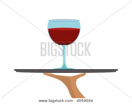Wineglass On Tray